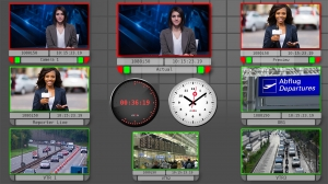 Axon SynView 8 screens - 2 clocks - traffic news