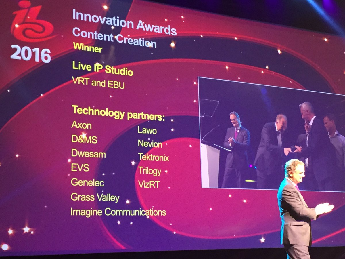 LiveIP Studio Wins IBC Innovation Award