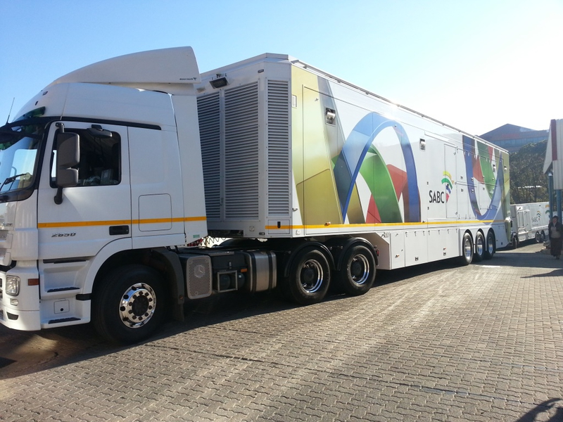 One of SABC's current OB fleet that now feeds content to the broadcaster.